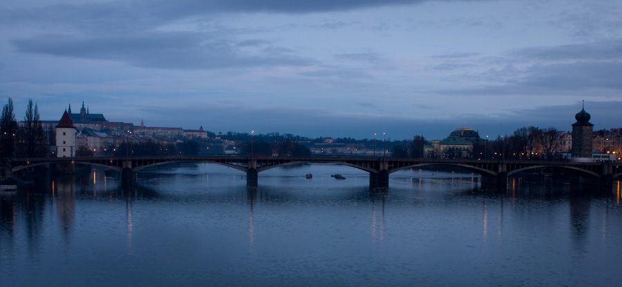 Prague, Vltava, Bridge