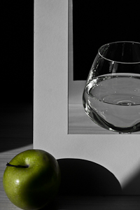 Glass and apple fragment 1