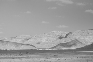 desert landscape in BW without editing