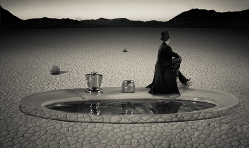 magician in the desert