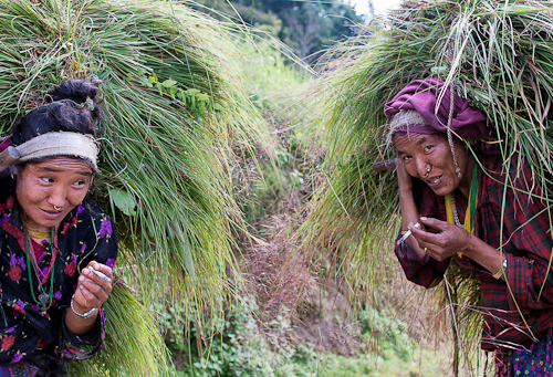 Hardworking Nepali Women