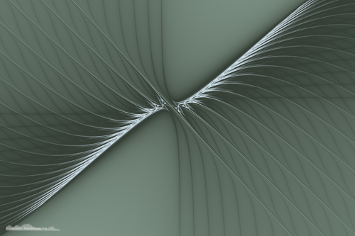 Stylized wings fractal art