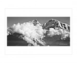 Nepal Scenery in B&W