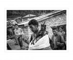 Nepal People in Black and White