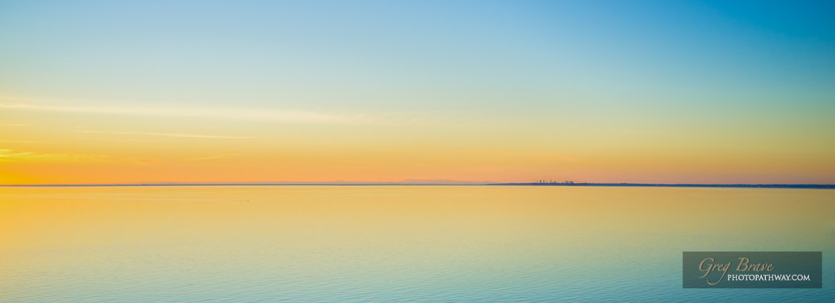 Magnificent tranquil waters at sunset on Mornington Peninsula, Australia