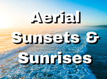 Aerial panoramic landscapes of beautiful sunsets in Australia