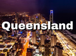 Gold Coast in Queensland - night view