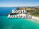 Aerial view of snelling beach in south australia