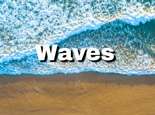 Looking down at ocean waves - aerial view