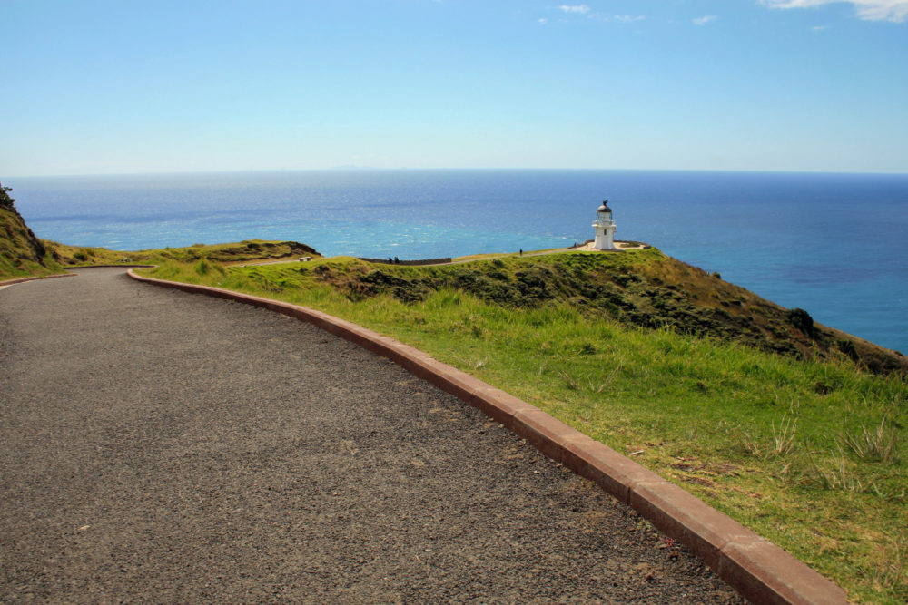 Cape Reinga Lighthouse in the distance