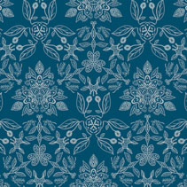 Floral pattern - seamless hand drawn leafs and flowers