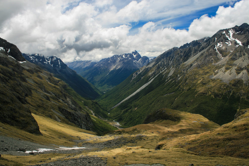 High and beautiful mountaneous pass located at Nelson Lakes National Park