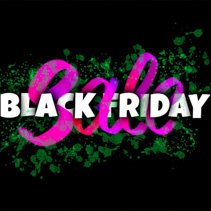 Black Friday Sale - colorful glowing hand lettering sign
