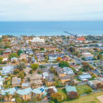 Aerial view of Frankston, Victoria, Australia