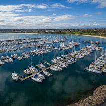 Boats moored at Sandringham Marina. Melbourne, Victoria, Australia
