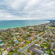 Aerial view of Frankston suburb in Australia