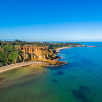 Red Bluff lookout and Edward Street beach in Melbourne, Australia