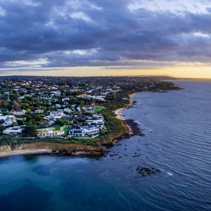 Perfect holiday destination - Mornington Peninsula in Australia at sunset