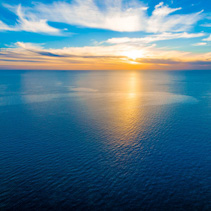 Minimalist seascape sunset - over tranquil sea