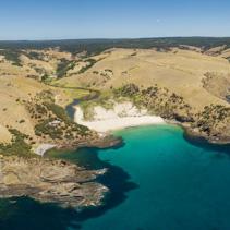 Aerial panorama of North Coast of Kangaroo Island, South Australia