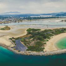 Aerial panorama of beautiful Narooma inlet,NSW, Australia