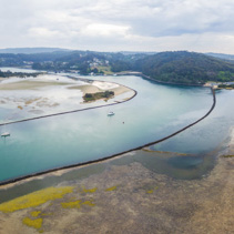 Aerial panorama of Narooma waterfront. NSW, Australia