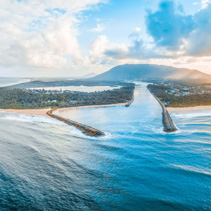 North Haven coastline. New South Wales, Australia - aerial panoramic landscape