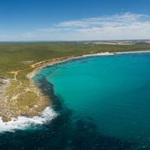 Vivonne Bay, Kangaroo Island beautiful aerial panorama.