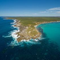 Vivonne Bay and Point Ellen, Kangaroo Island aerial view.