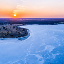 Salt Lake Crosbie at sunset - aerial view