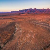 Flinders Ranges peaks at orange sunset