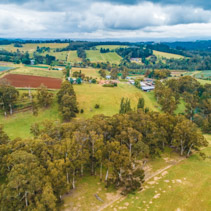 Countryside of Victoria, Australia - aerial view