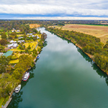 Aerial view of Mitchell River, Gippsland, Australia