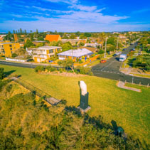 Aerial view of the Eagle (Bunjil) sculpture in Frankston, Victoria, Australia