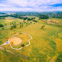 Aerial view of Bicentennial park
