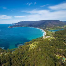 Aerial view of Eaglehawk Neck, Tasmania