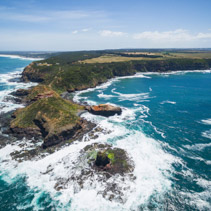 Aerial view of Cape Schanck, Australia