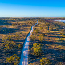 Unsealed road passing through Murray-Sunset National Park in Australia