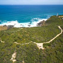 Aerial view of Cape Schanck Lighthouse, Australia.