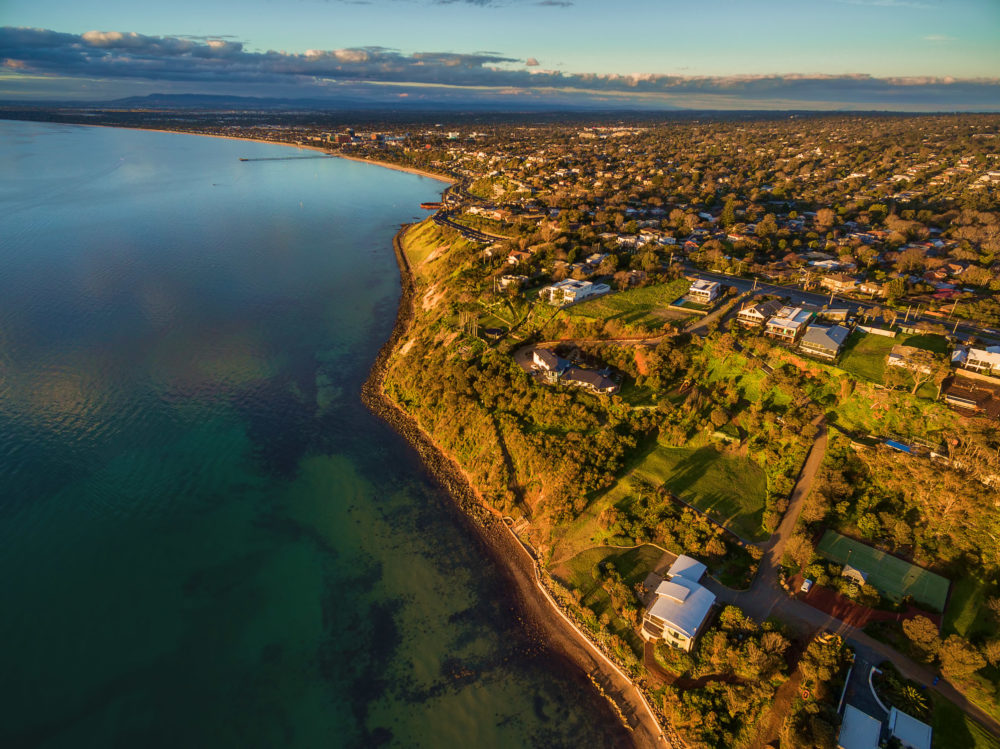 Aerial image of Frankston coastline