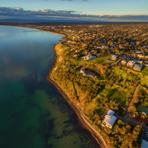 Aerial image of Frankston coastline