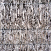 Brushwood fence texture detailed closeup