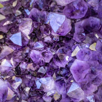Amethyst crystal abstract background overlay