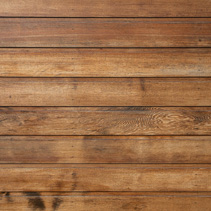 Treated wooden planks fence - abstract background with copy space