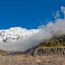 View of the Annapurna Range, from Annapurna Base Camp, Himalayas, Nepal
