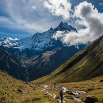 The Sacred Fishtail Mountian (Machhapuchre), in Annapurna Range, Nepal