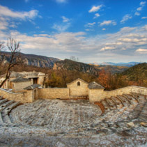 Amphitheater at Monodendri Village, Zagoria, Greece