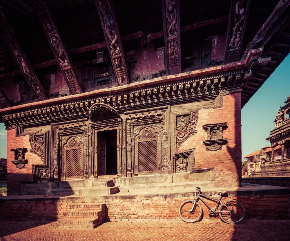 Closeup of Temple entrance, Bhaktapur, Nepal