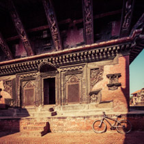 Closeup of Temple entrance, Bhaktapur, Nepal