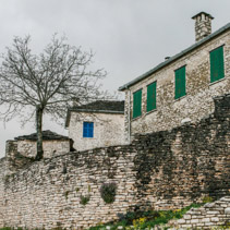 Traditional stone house in Monodendri, Zagoria, Greece